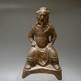 清代 铜质精良的关羽关公造像 武财神摆件
