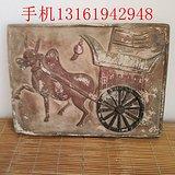 古砖 彩陶砖 画像砖牛车图