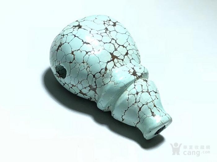 原矿 绿松石 乌兰花 一体佛头 铁线 漂亮 做工精致图1