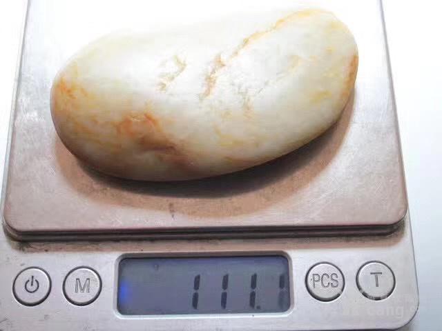 正宗 新疆 玉龙河 撒金皮 籽料 手感如膏如脂图8
