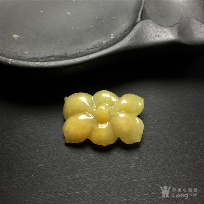 玉泉文玩x741创汇期糯冰种黄翡翡翠莲蓬吊坠