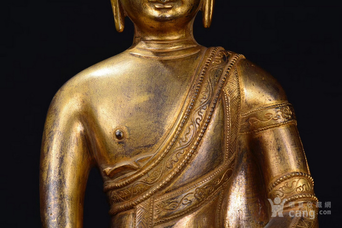 铜鎏金药师佛