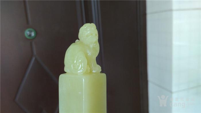 寿山石月尾绿印章