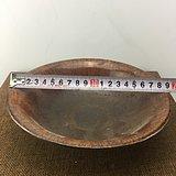 酱釉龙纹瓷碗A2415