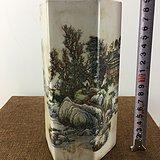 山水粉彩瓷器A2991
