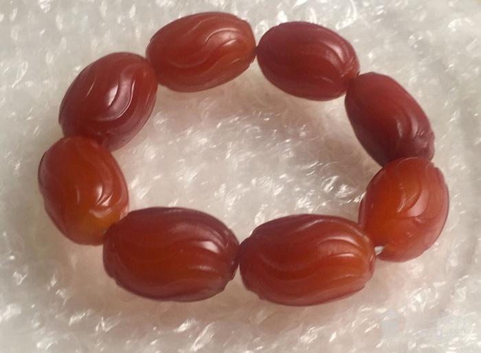 清.南红柿子红手链