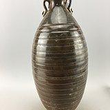 酱釉老瓷瓶A4805