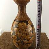 黄釉花卉瓷瓶A3113