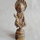 老铜鎏金佛像