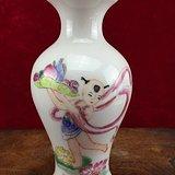 童子送寿粉彩瓷瓶A0166
