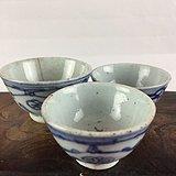 青花花卉瓷杯A0209
