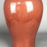 清晚期  红釉梅瓶