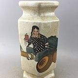 乡下收来的人物瓷瓶A5362