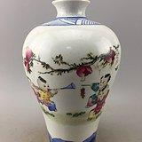 粉彩童戏瓷瓶A5377