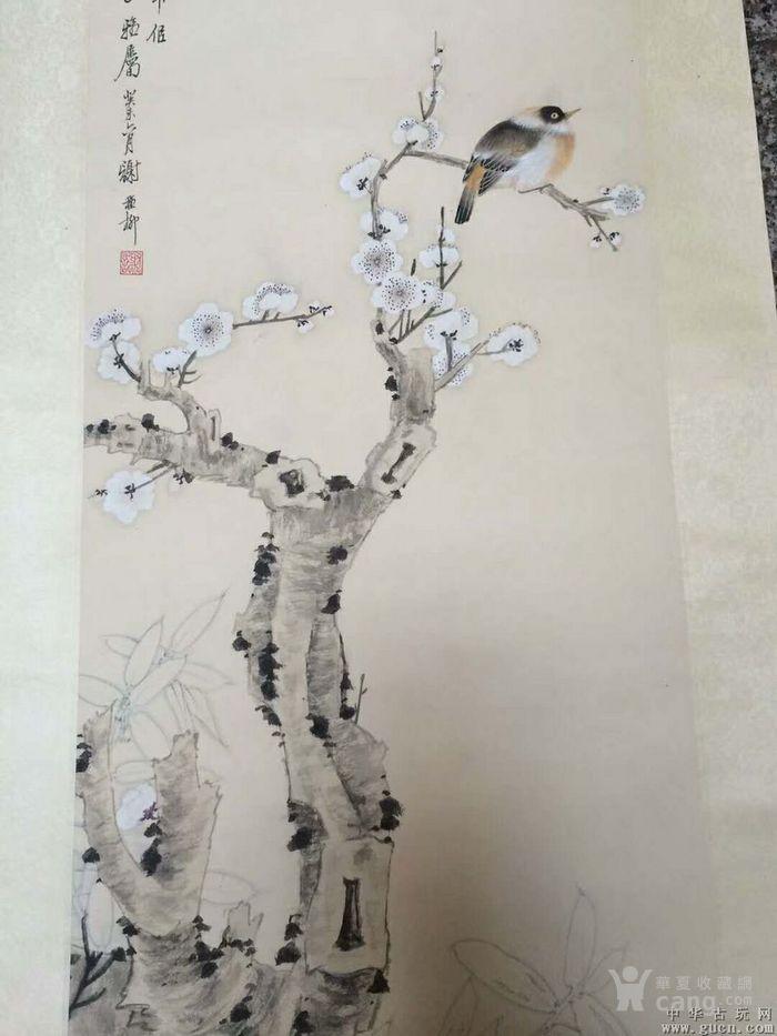 谢稚柳工笔手绘花鸟