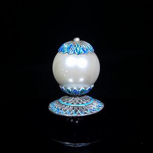 珍珠帽鼎高5.1珍珠直径2.8底座直径3.3