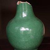 档次高的绿釉天球瓶