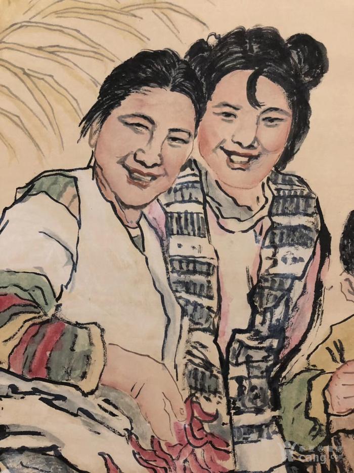刘文西 丰收图,纯手绘作品,尺寸:200 90cm左右