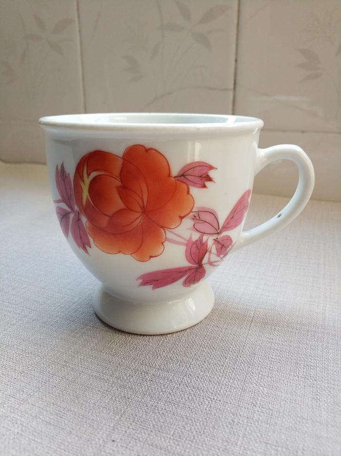 1只全品文革手绘茶杯