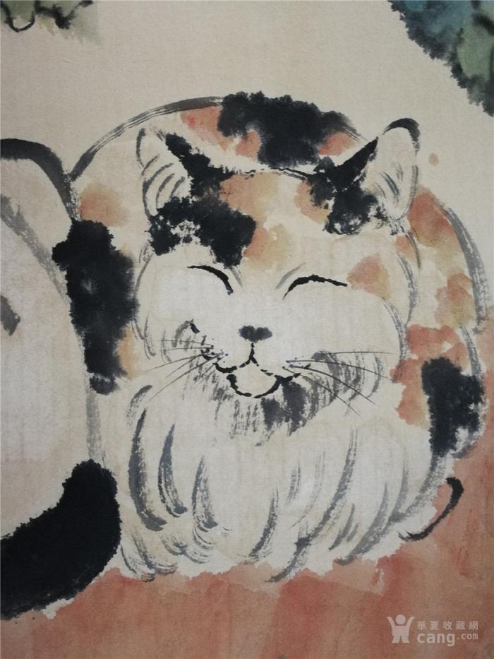 徐悲鸿画猫作品立轴
