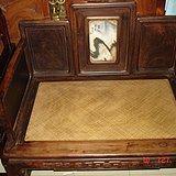 《图一》清代油梨木和红木混做的大禅椅