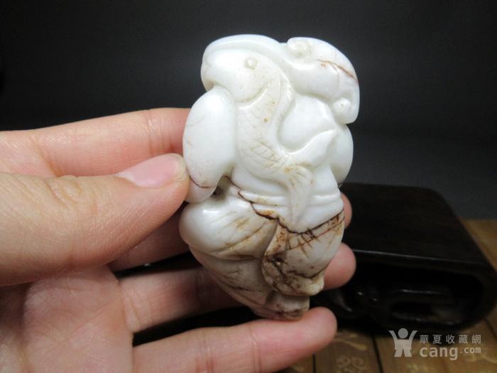 乡下收来的和田玉渔翁得利玉器古玩杂项古董收藏
