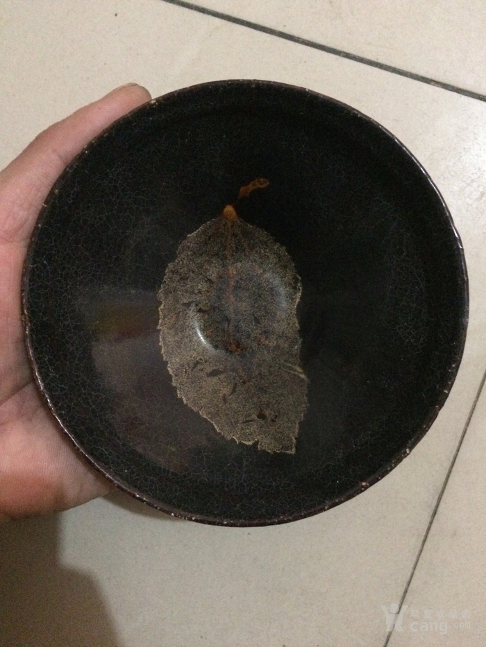 老吉州窑木叶盏
