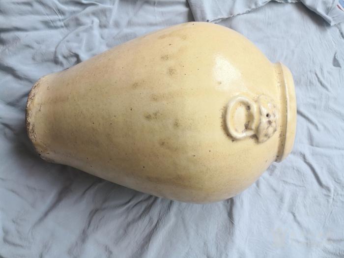 元磁州窑白釉瓶