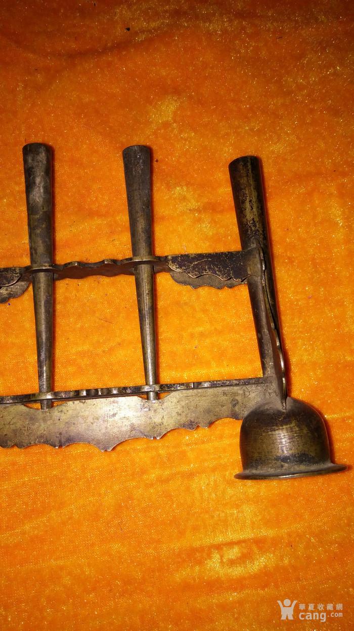 收藏级清代做工大器厚实文房铜笔架包老包邮不议价