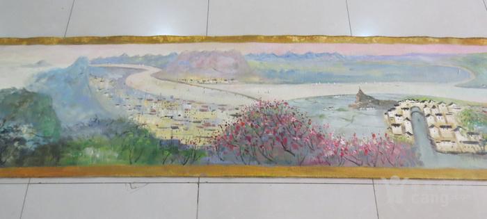 吴冠中油画手卷 长江万里图