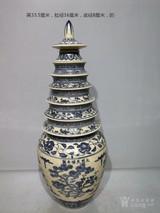明青花塔式瓶