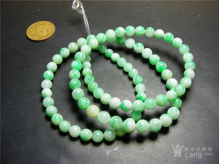 回流之物 八九十年代A货飘正阳绿翡翠小圆珠项链一条 实价