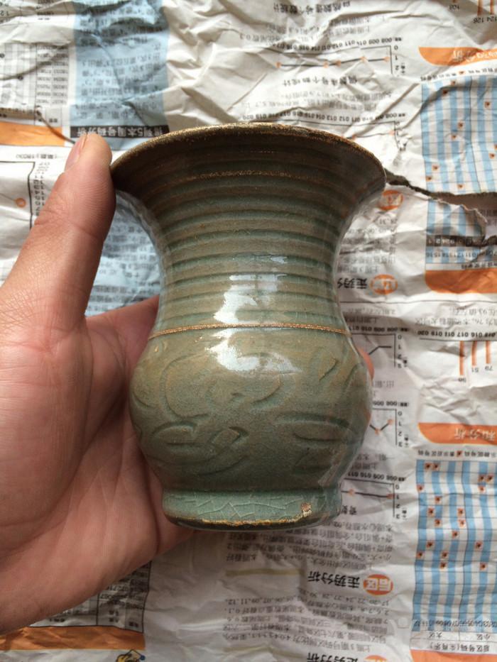 老龙泉窑刻画瓶