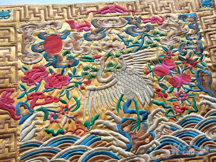 清代传世老凤凰刺绣