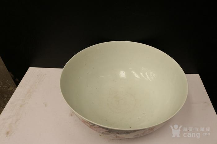 晚清粉彩八仙大碗,造型大气,包浆自然,到代