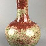 民国 豇豆红釉赏瓶