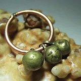 开门到代 清早期 空心铜扣  铜环是文革时期后做的