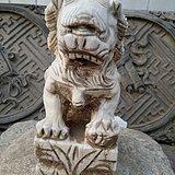 文革白石狮子