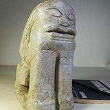 宋元老石器 案头狮