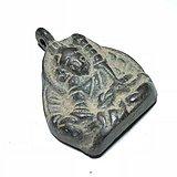 藏传 明代晚期 财宝天王 铜牌 手工打造 几百年加持
