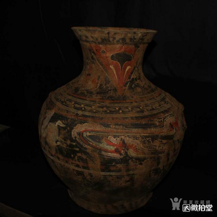 狩猎图形彩陶瓶