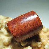 开门到代 战汉时期 和田玉 红皮籽料 桶珠 包浆老道