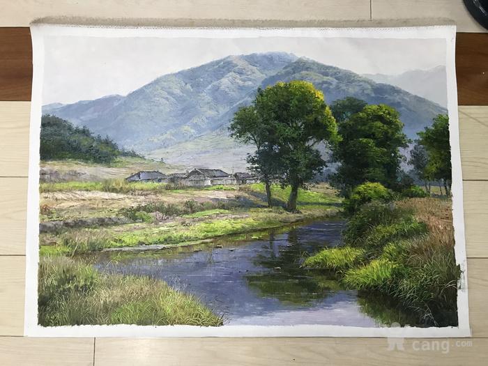 回流朝鲜山水风景油画