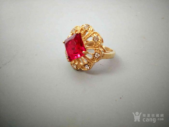 清代天然红宝石戒指
