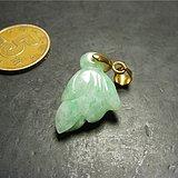 清代老坑A货飘绿翡翠圆雕花卉中号坠子 圆雕之物