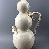 白釉龙执手葫芦瓷瓶A6142