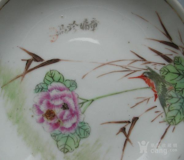 瓷绘名家章墉绘粉彩花鸟纹盘A号