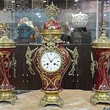十九世纪末 法国三件套壁炉座钟