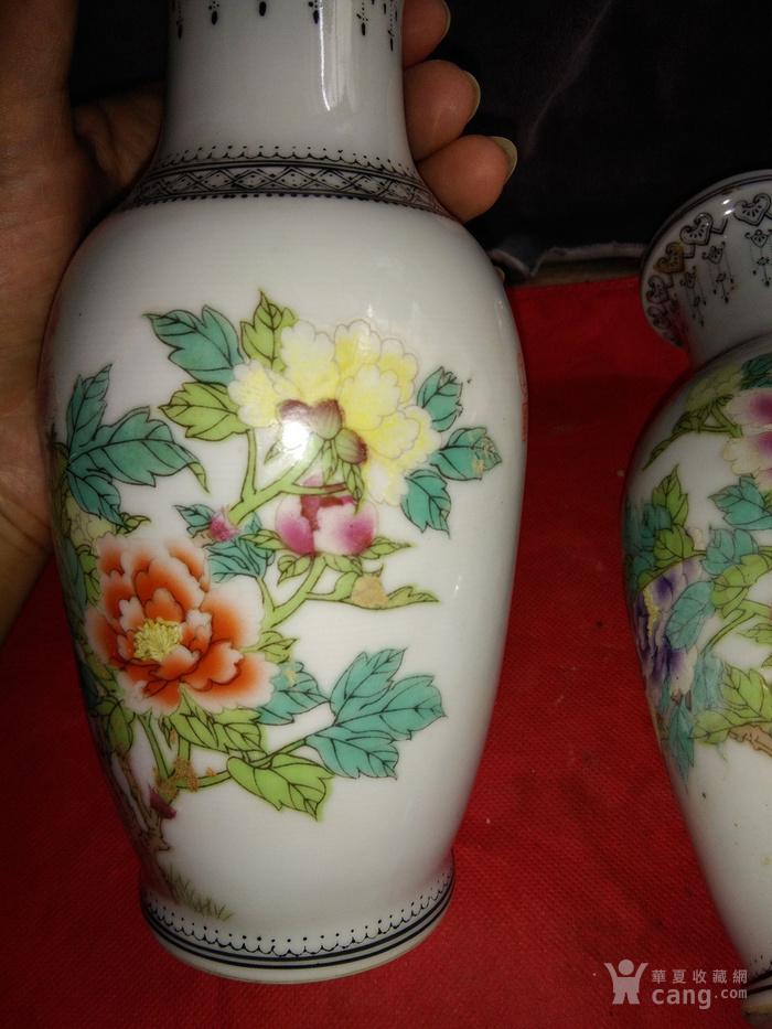 保老文革手绘花瓶两个