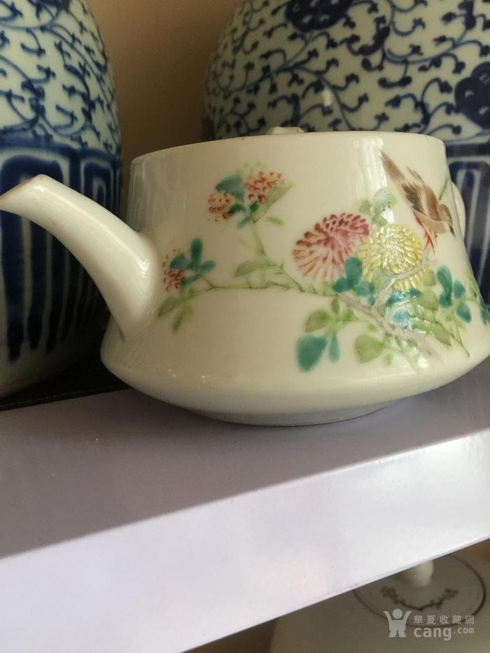 吕尚文浅降彩茶壶